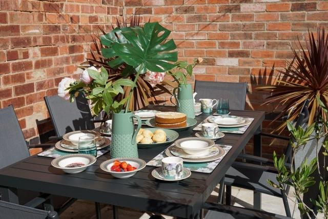 Portmeirion Atrium collection, mug, teacup, saucer, plate, jug, platter