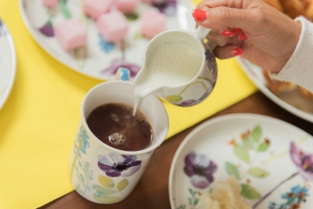 Water Garden by Portmeirion milk jug and mug